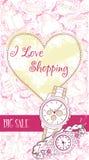 Carte décorative de conception avec des montres-bracelet Photo libre de droits