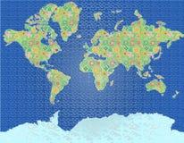 Carte décorative du monde Illustration Libre de Droits