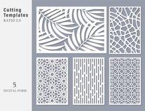 Carte décorative réglée pour la coupure Linéaire géométrique abstrait illustration libre de droits