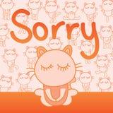Carte désolée de chat illustration de vecteur