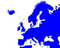 Carte détaillée de l'Europe Images libres de droits