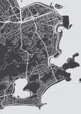 Carte détaillée Rio de Janeiro de vecteur illustration stock