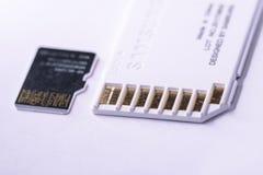 Carte d'écart-type et carte micro d'écart-type à coté Photographie stock libre de droits
