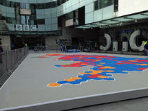 Carte d'élection de BBC, Chambre de radiodiffusion Photos stock