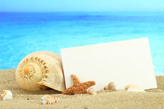 Carte d'été Photo stock