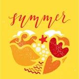 Carte d'été Photo libre de droits