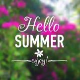 Carte d'été avec des fleurs Photos libres de droits