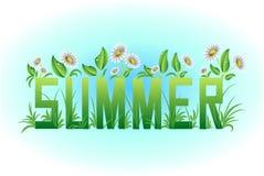 Carte d'été, lettrage, Photos stock