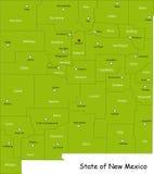Carte d'état du Mexique Images libres de droits