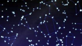 Carte d'étoile de constellation banque de vidéos
