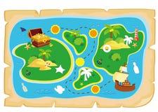 Carte d'île de trésor Illustration de Vecteur