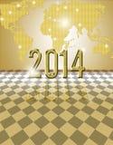 Carte 2014 d'or Photo libre de droits