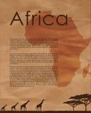 Carte d'abrégé sur de l'Afrique Image libre de droits
