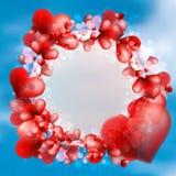 Carte d'abrégé sur nuage de coeur. + EPS10 Photographie stock libre de droits