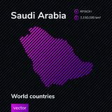 Carte d'abrégé sur vecteur de l'Arabie Saoudite illustration stock