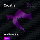Carte d'abrégé sur vecteur de la Croatie illustration de vecteur