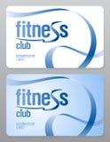 Carte d'adhésion de club de forme physique. illustration de vecteur