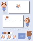 Carte d'affichage d'idée de singe Photo libre de droits