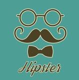 Carte d'affiche de monsieur de hippie de vintage Image libre de droits