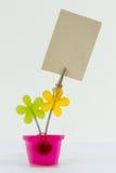 Carte d'agrafe de fleur Images libres de droits