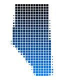Carte d'Alberta Images libres de droits