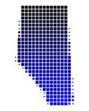 Carte d'Alberta Image libre de droits