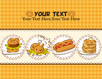 Carte d'aliments de préparation rapide Images libres de droits