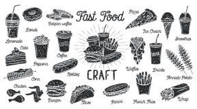 Carte d'aliments de pr?paration rapide illustration de vecteur