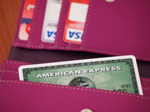 Carte d'American Express Images libres de droits