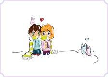 Carte d'amour. Image libre de droits