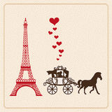 Carte d'amour Images stock