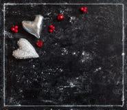 Carte d'amour Carte postale de jour du `s de Valentine Photos libres de droits