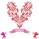 Carte d'amour de coeur Image libre de droits