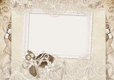 Carte d'amour de cru avec des roses Photo libre de droits