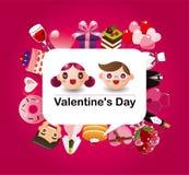 Carte d'amour de dessin animé Images stock