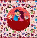 Carte d'amour de dessin animé Photographie stock