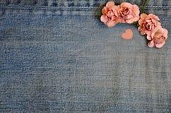 Carte d'amour de jeans Image libre de droits