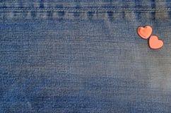 Carte d'amour de jeans Image stock
