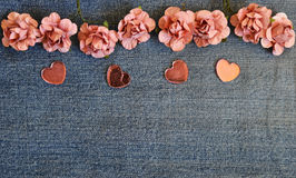 Carte d'amour de jeans Photos stock