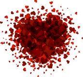 Carte d'amour de Valentine illustration libre de droits
