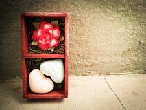 Carte d'amour de Valentine Images libres de droits