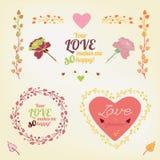 Carte 02 A d'amour de Valentine illustration de vecteur