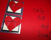 Carte d'amour seulement pour mon amour Images stock