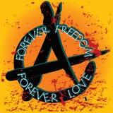 Carte d'anarchie Illustration Libre de Droits