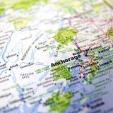 Carte d'Anchorage Images libres de droits