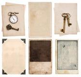 Carte d'annata della foto e vecchi strati di carta Immagine Stock