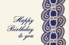 Carte d'anniversaire Photos libres de droits