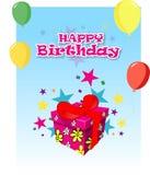 Carte d'anniversaire illustration stock