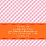 Carte d'anniversaire avec la berceuse de chéri illustration libre de droits