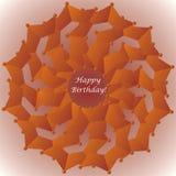 Carte d'anniversaire avec la décoration florale illustration stock